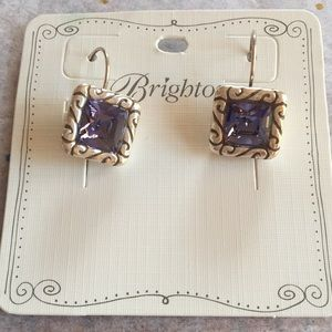 Brighton Silver and blue stoned Earrings